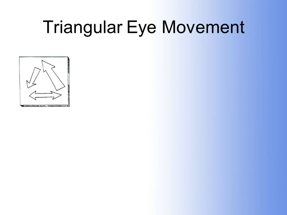Triangular Eye Movement
