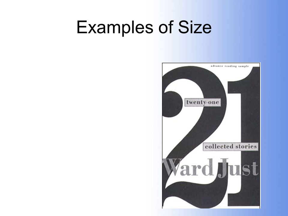 Examples of Size
