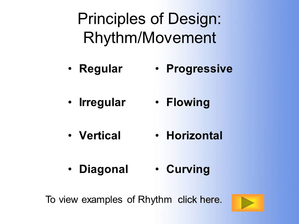 Principles of Design: Rhythm/Movement