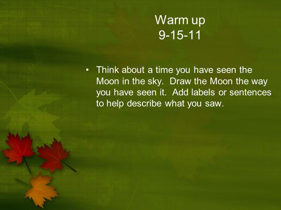 Warm up 9-15-11