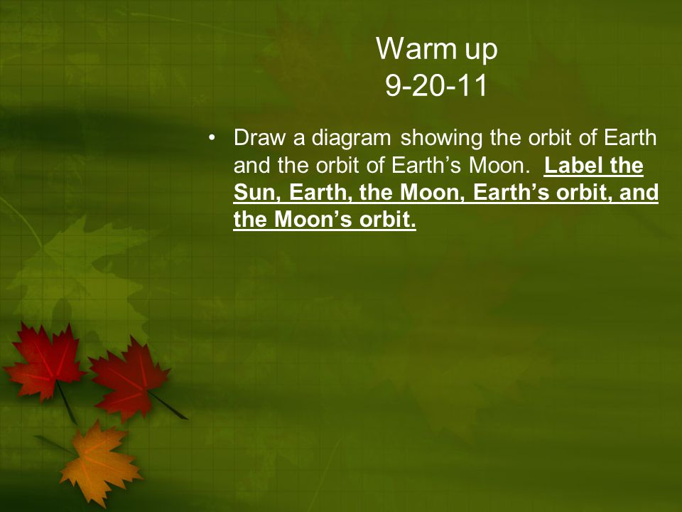 Warm up 9-20-11