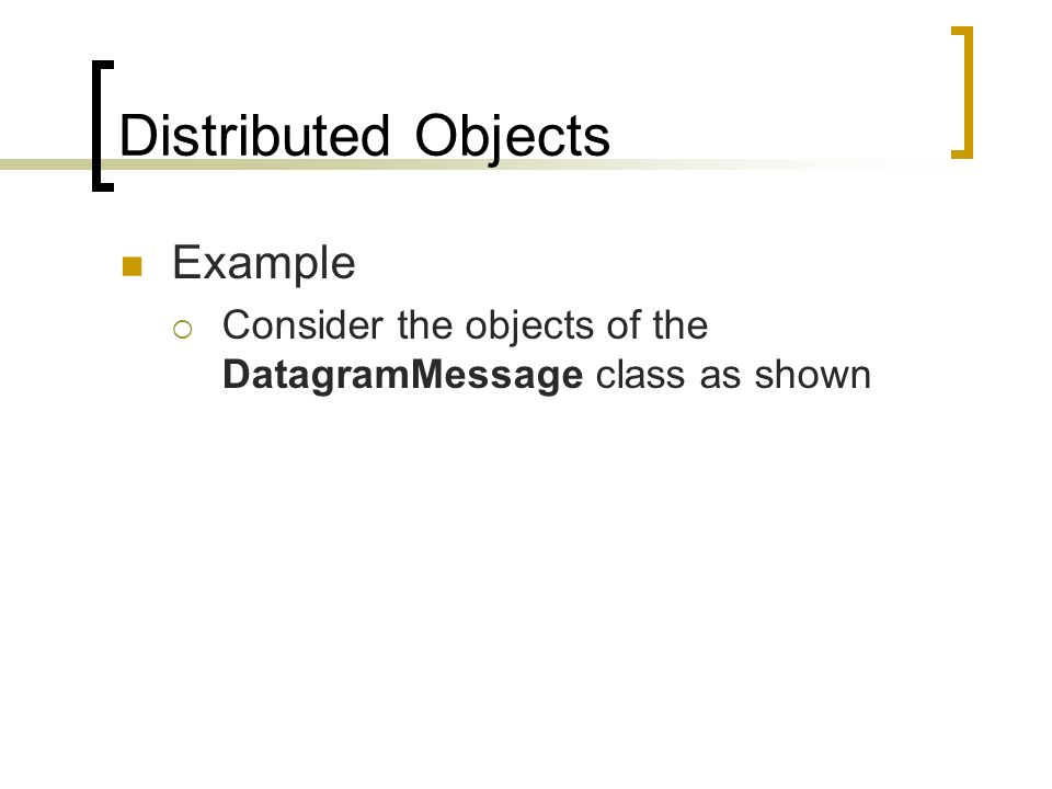 Distributed Objects Example