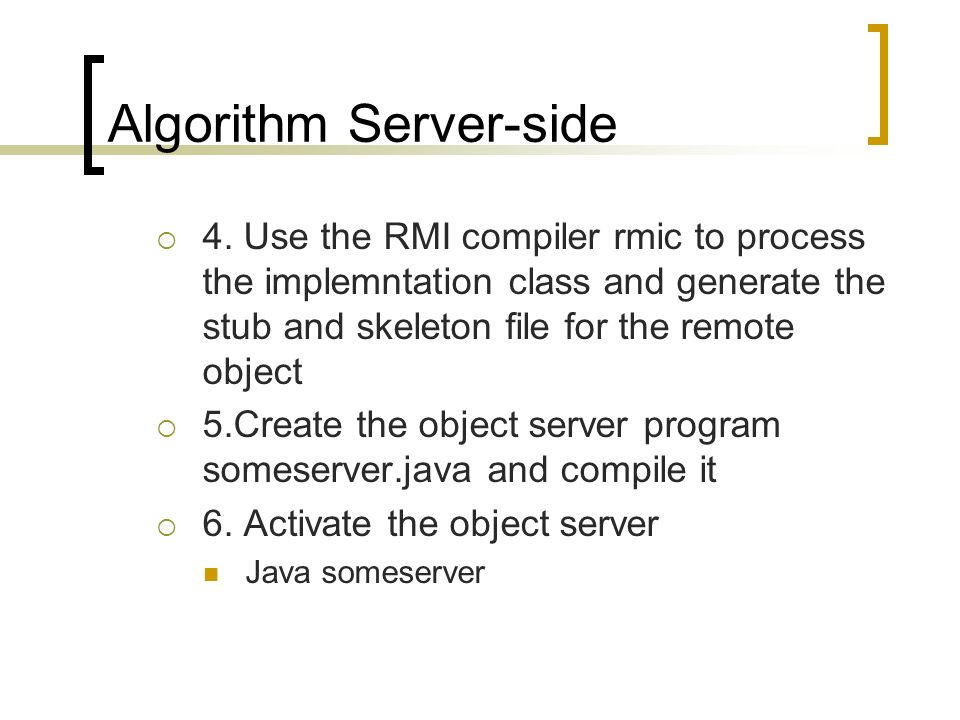 Algorithm Server-side