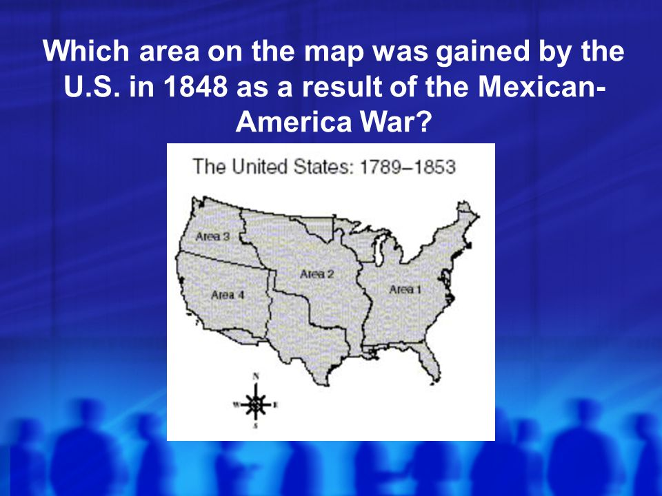 Which area on the map was gained by the U. S