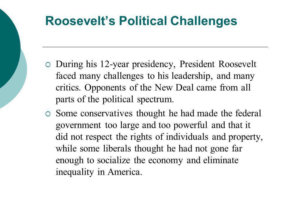 Roosevelt's Political Challenges