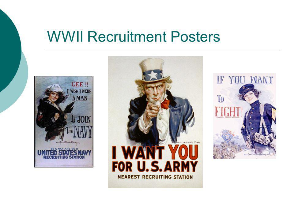 WWII Recruitment Posters