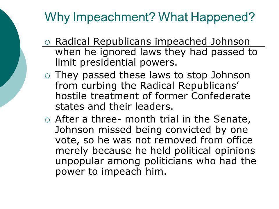 Why Impeachment What Happened