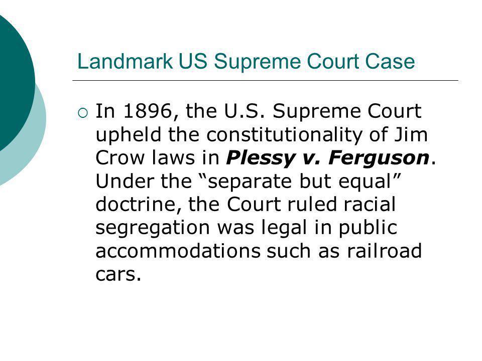 Landmark US Supreme Court Case