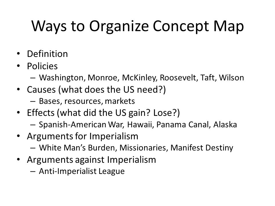 Ways to Organize Concept Map