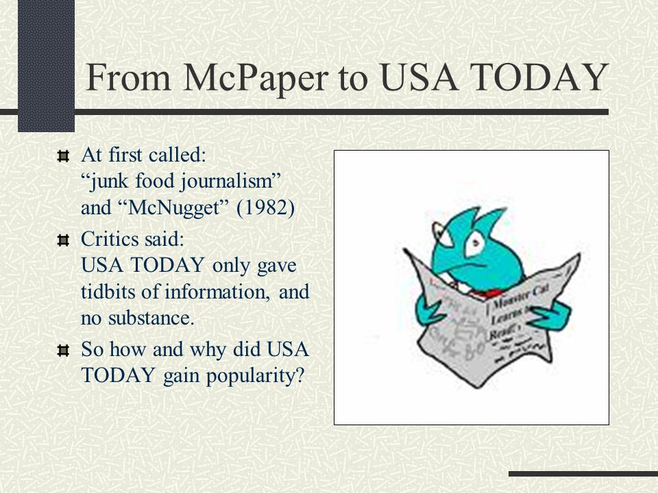 From McPaper to USA TODAY