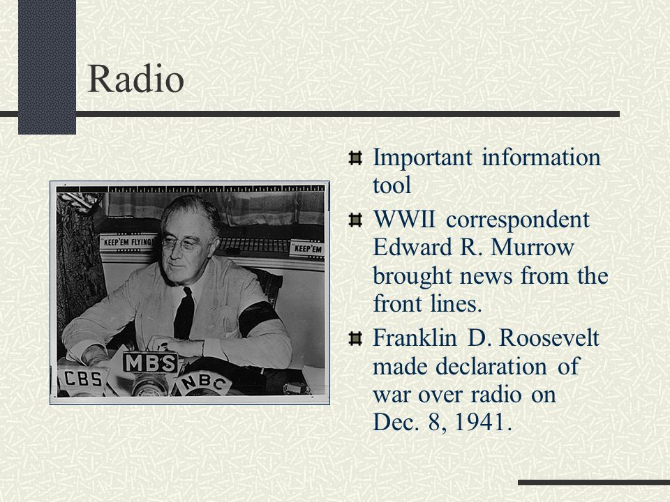 Radio Important information tool