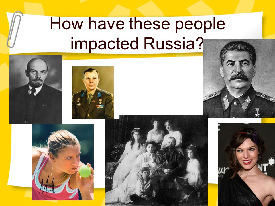 How have these people impacted Russia