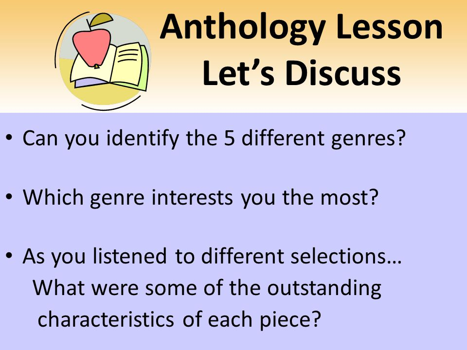 Anthology Lesson Let's Discuss