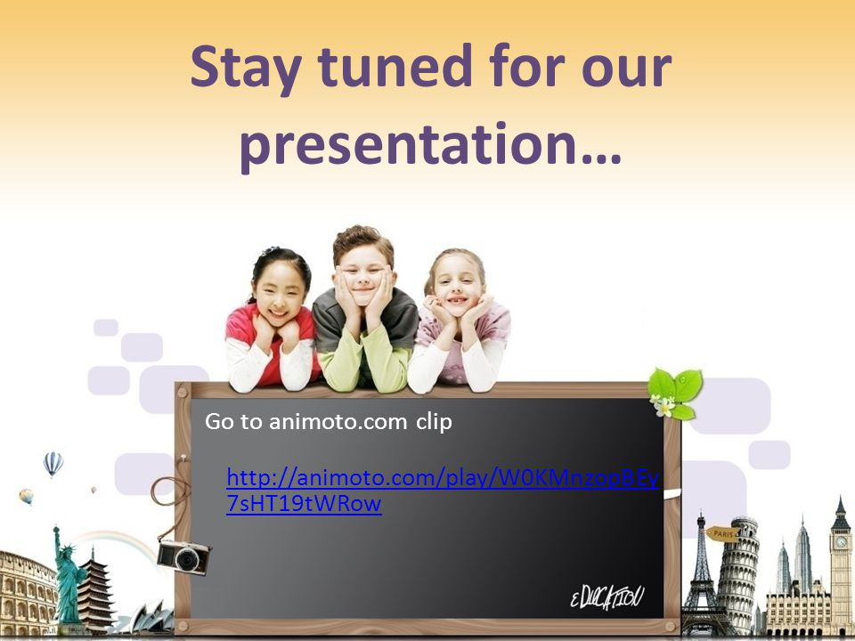 Stay tuned for our presentation…