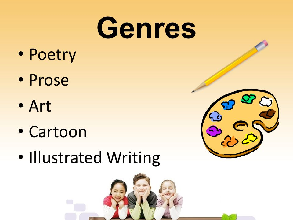 Genres Poetry Prose Art Cartoon Illustrated Writing
