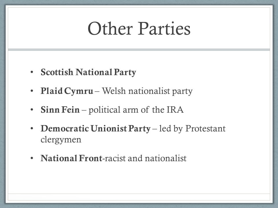 Other Parties Scottish National Party