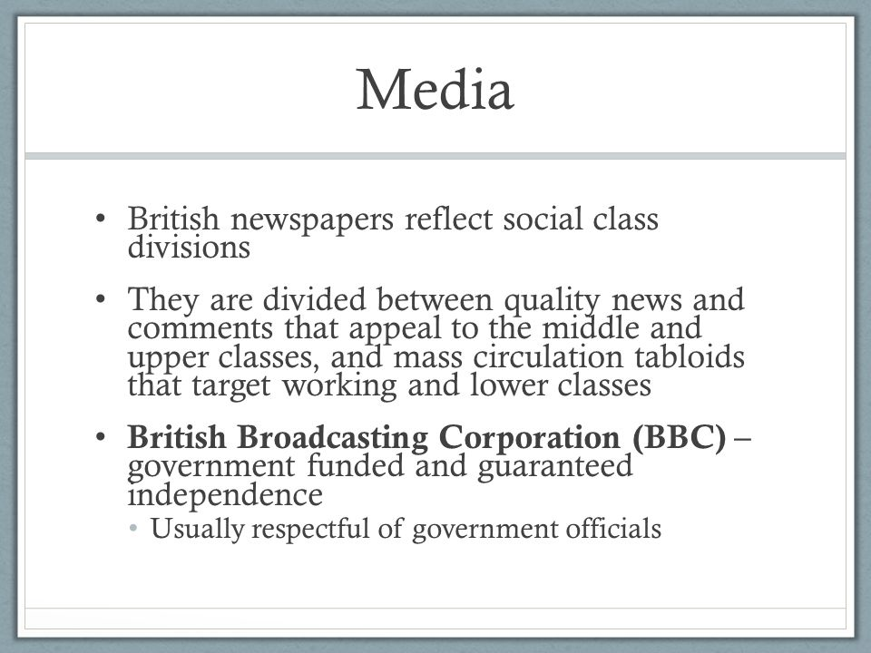 Media British newspapers reflect social class divisions