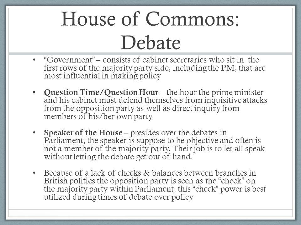 House of Commons: Debate