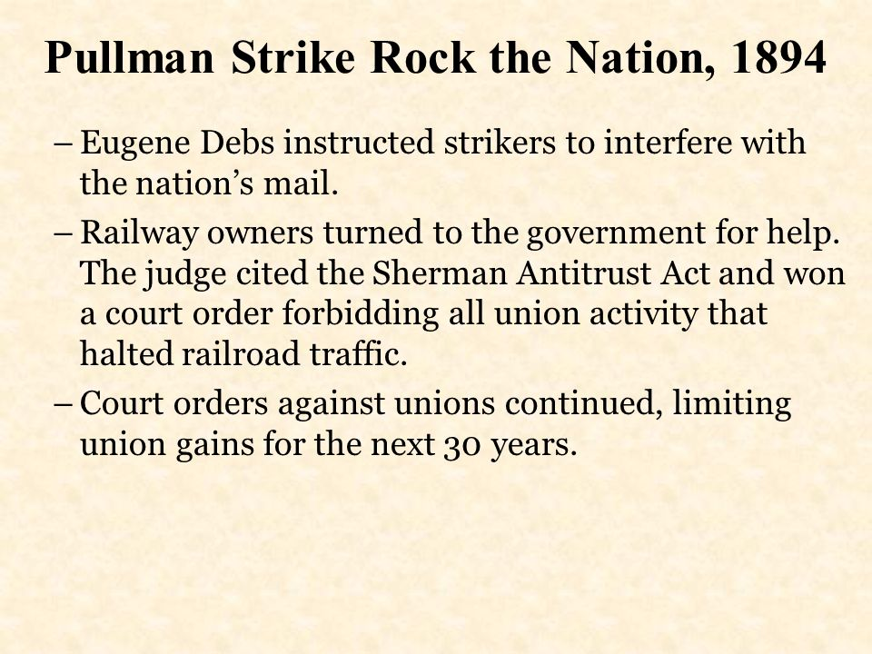 Pullman Strike Rock the Nation, 1894