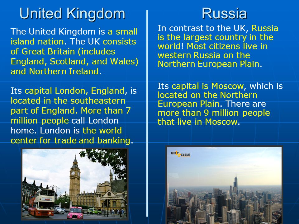 United Kingdom Russia.