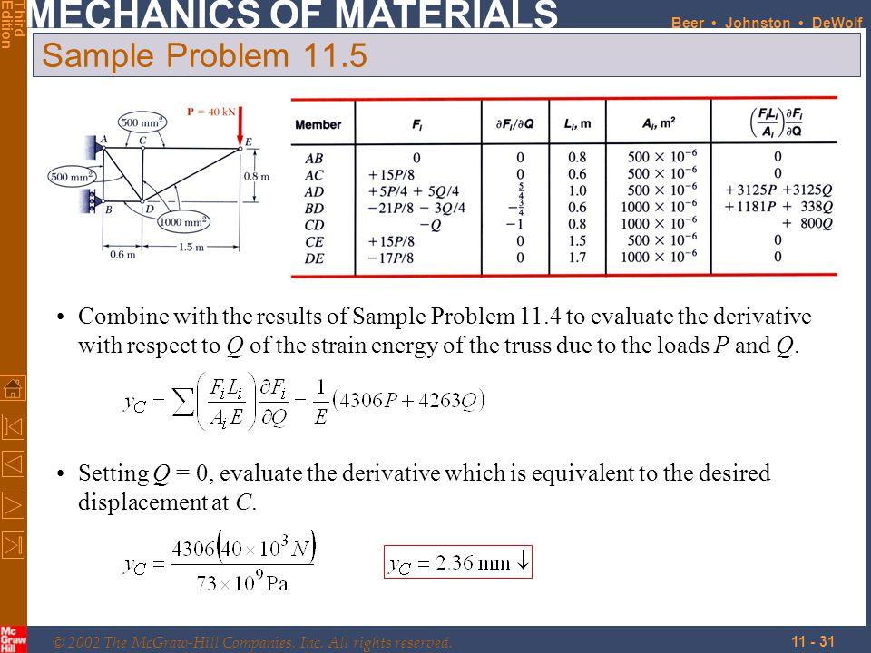 Sample Problem 11.5