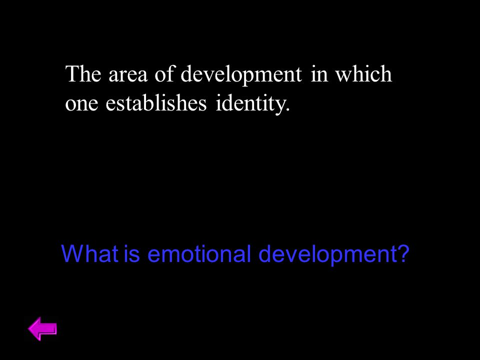 The area of development in which one establishes identity.