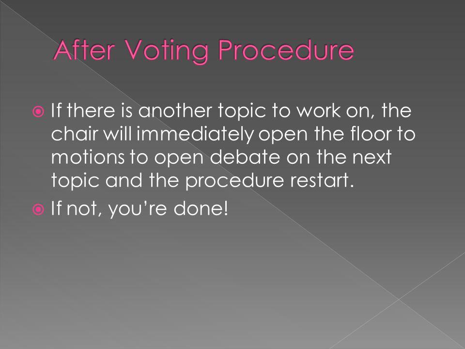 After Voting Procedure