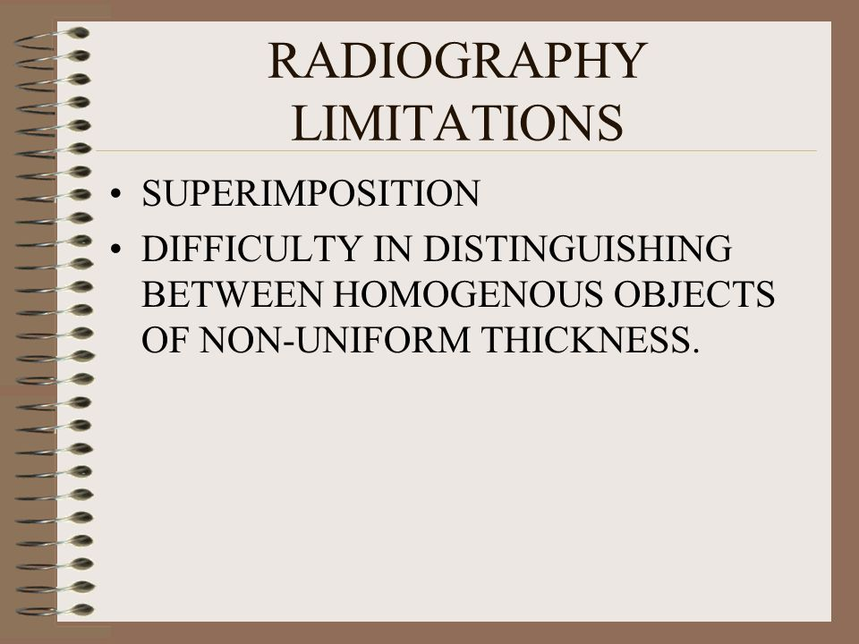 RADIOGRAPHY LIMITATIONS