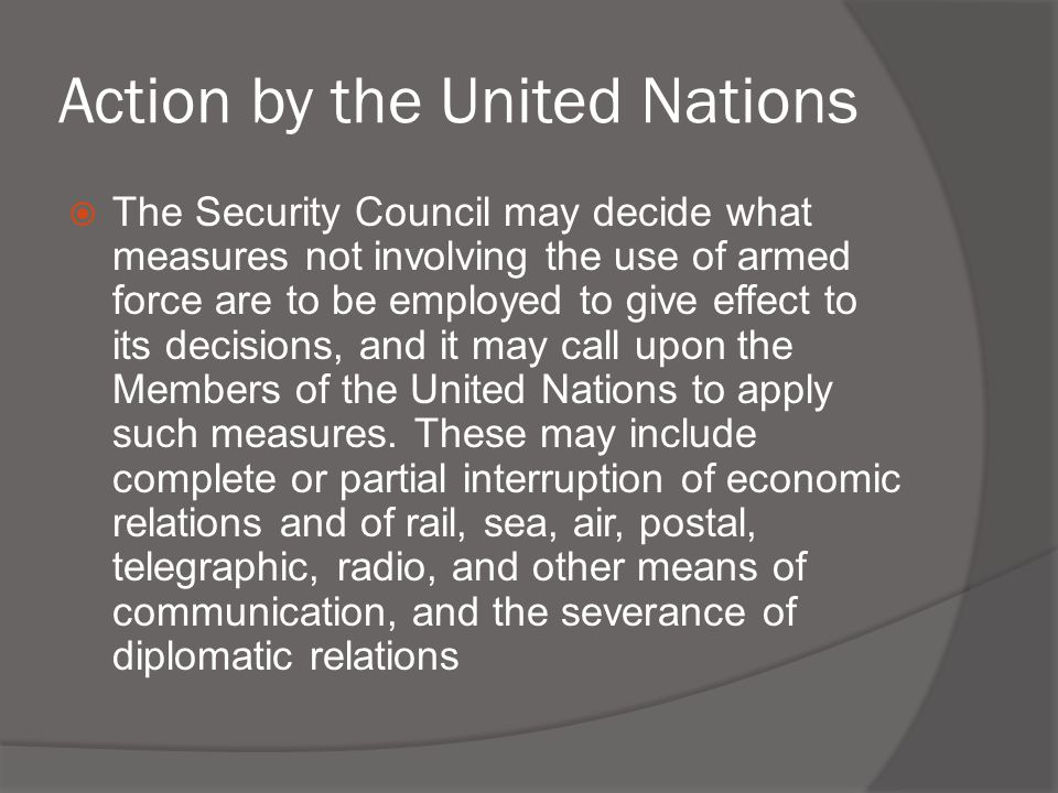 Action by the United Nations