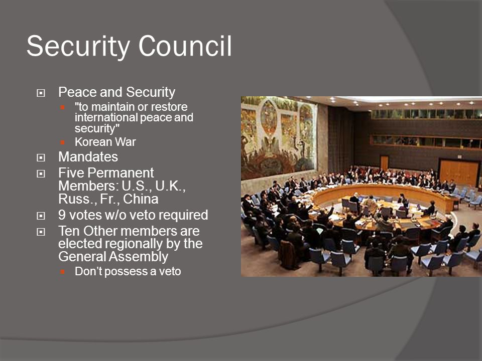 Security Council Peace and Security Mandates