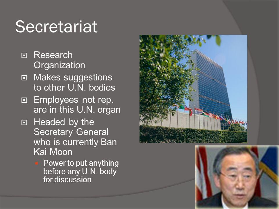 Secretariat Research Organization