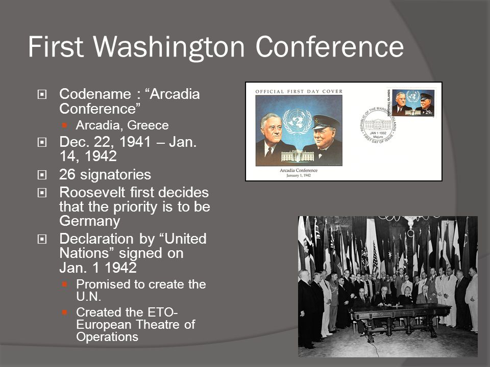 First Washington Conference