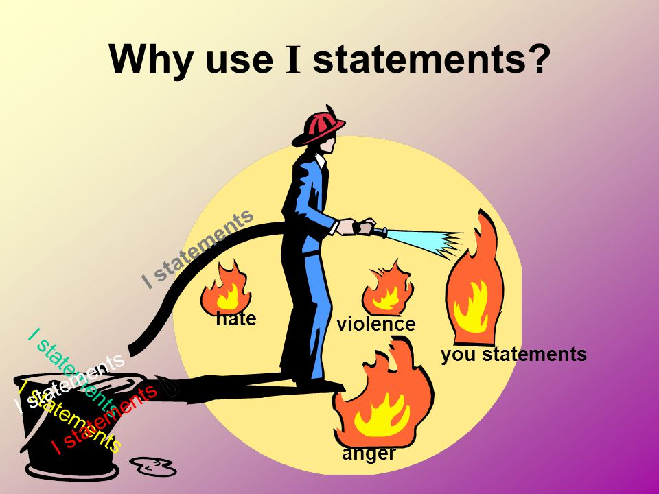 Why use I statements I statements anger you statements violence hate