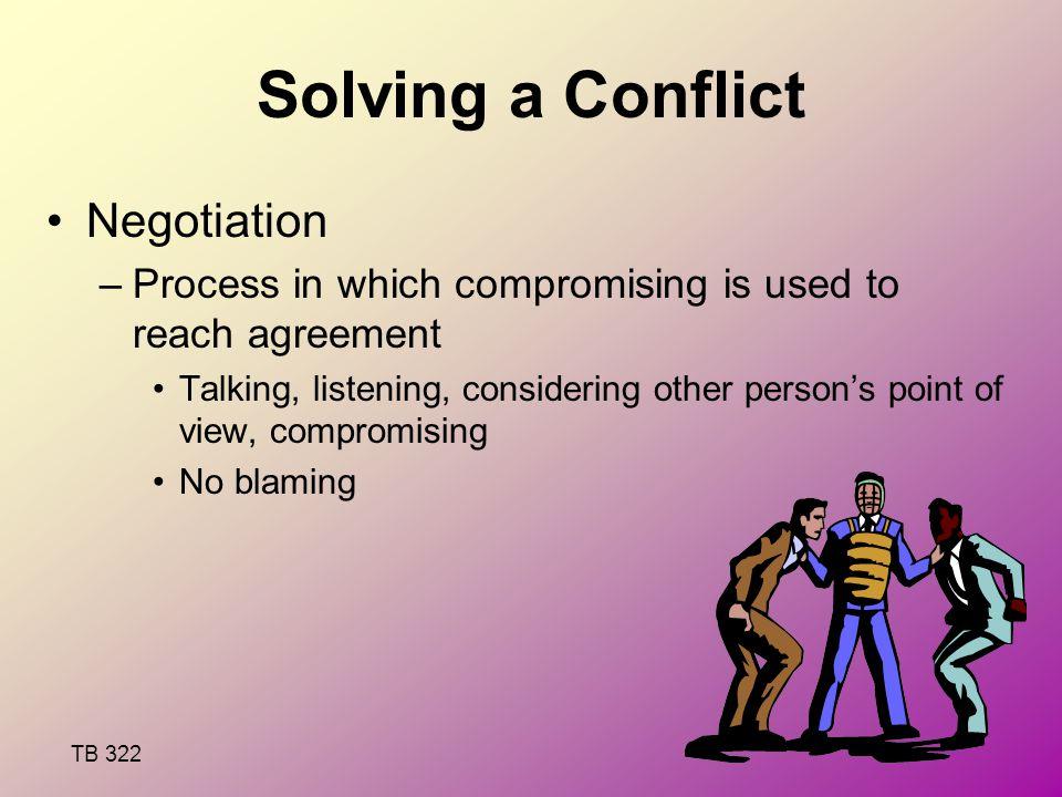 Solving a Conflict Negotiation