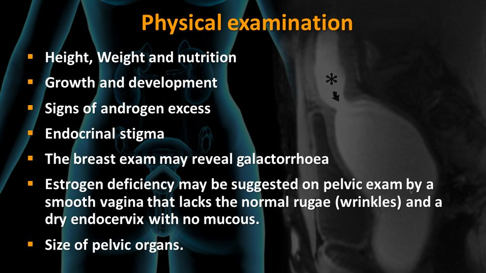 Physical examination Height, Weight and nutrition