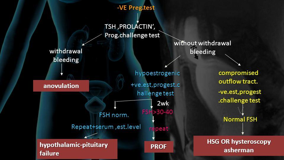 -VE Preg.test anovulation PROF