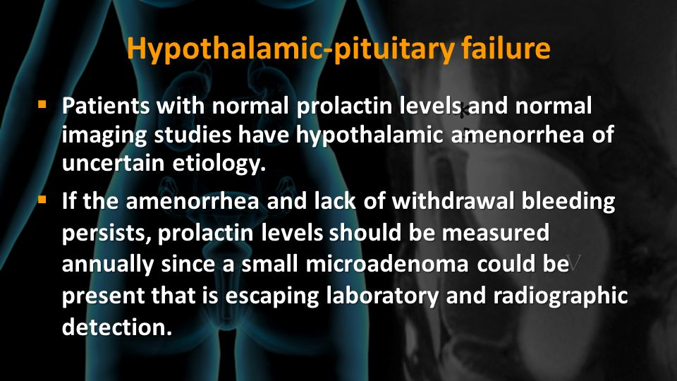 Hypothalamic-pituitary failure