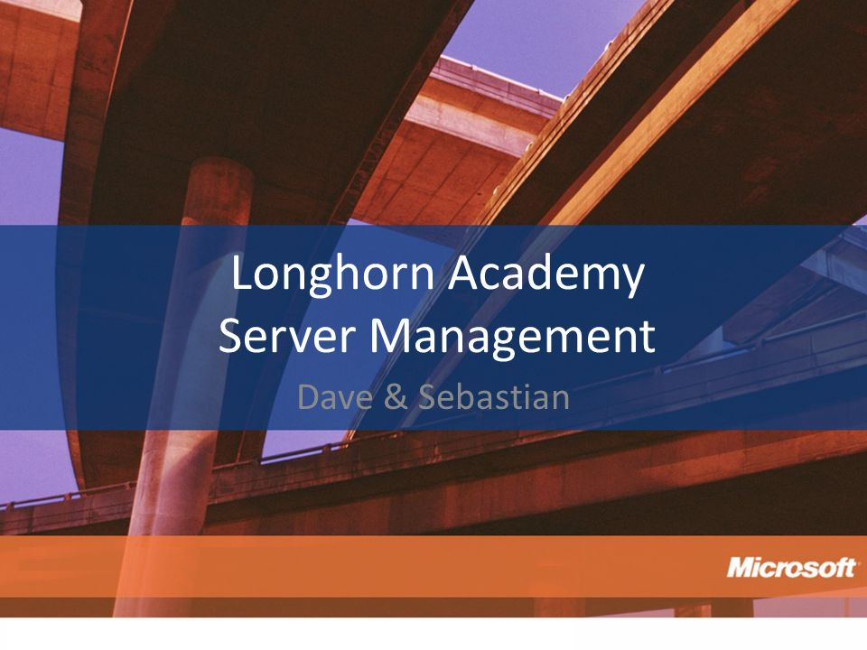 Longhorn Academy Server Management