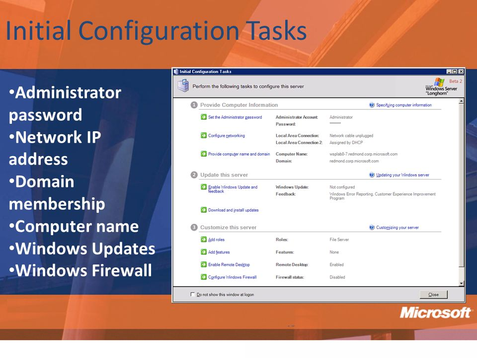 Initial Configuration Tasks