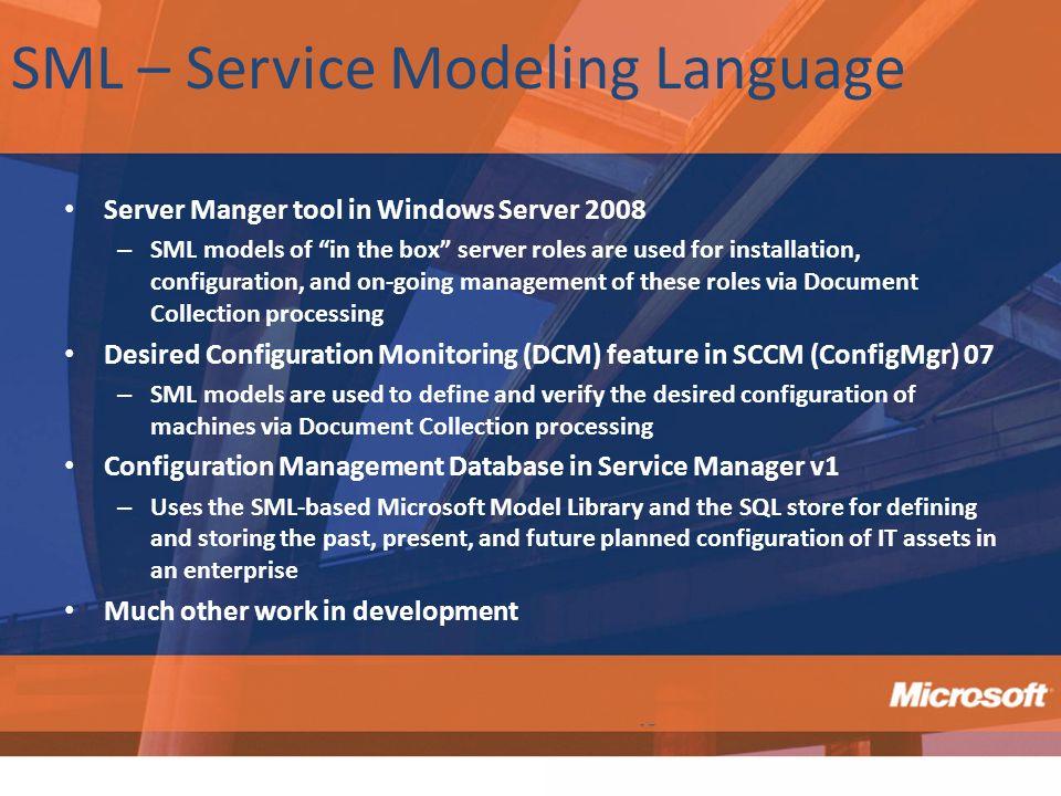 SML – Service Modeling Language