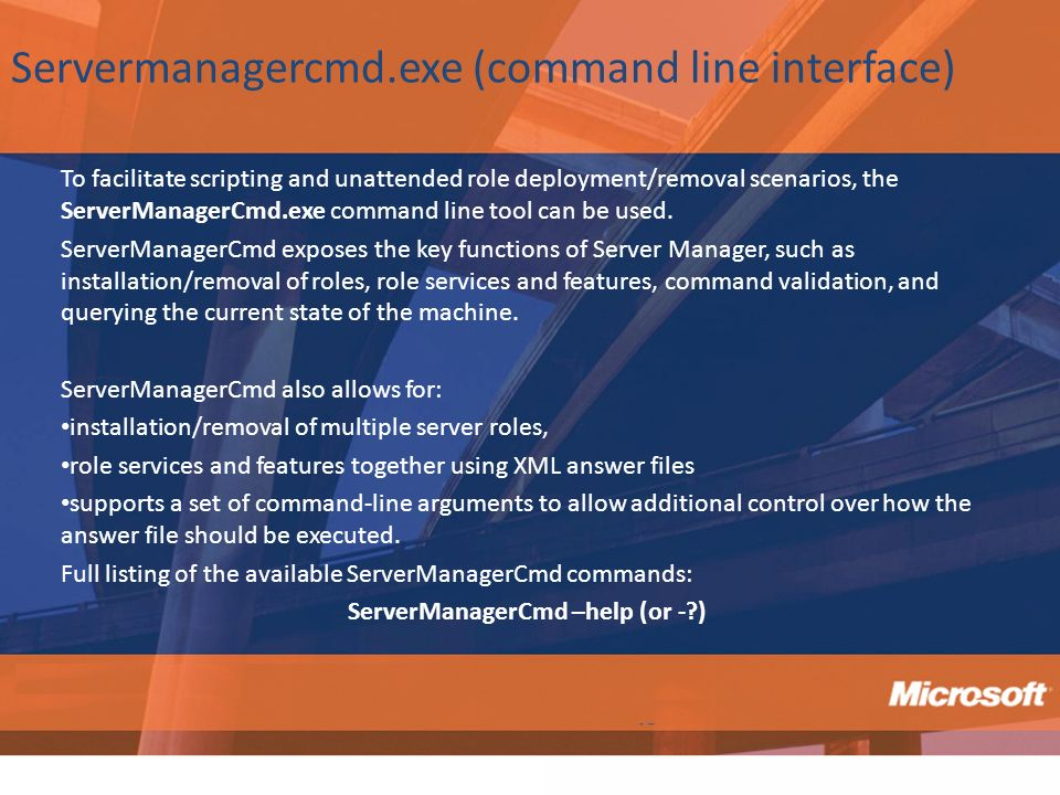 Servermanagercmd.exe (command line interface)