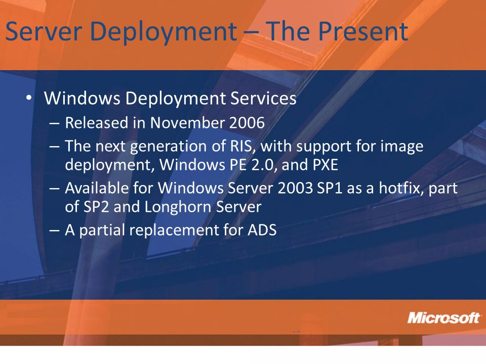 Server Deployment – The Present