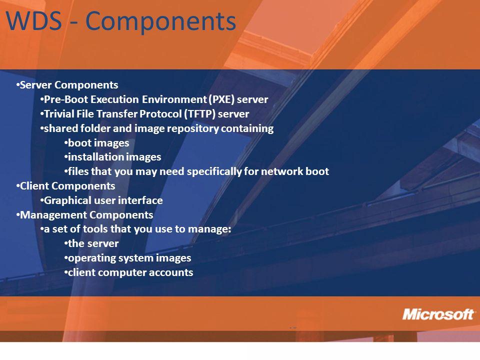 WDS - Components Server Components