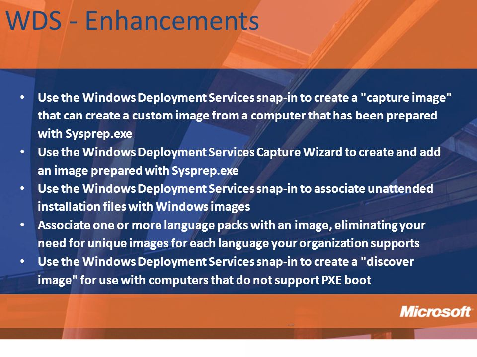 WDS - Enhancements