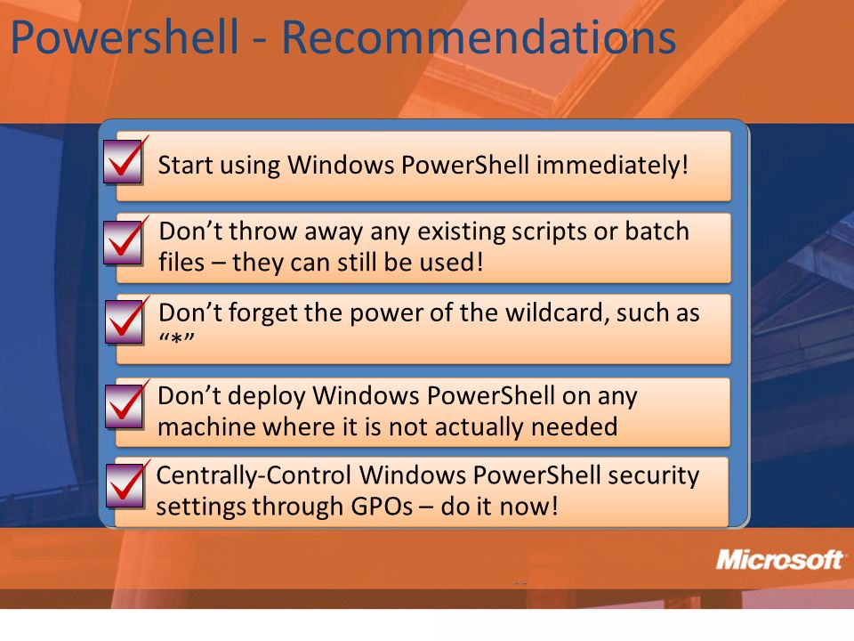Powershell - Recommendations