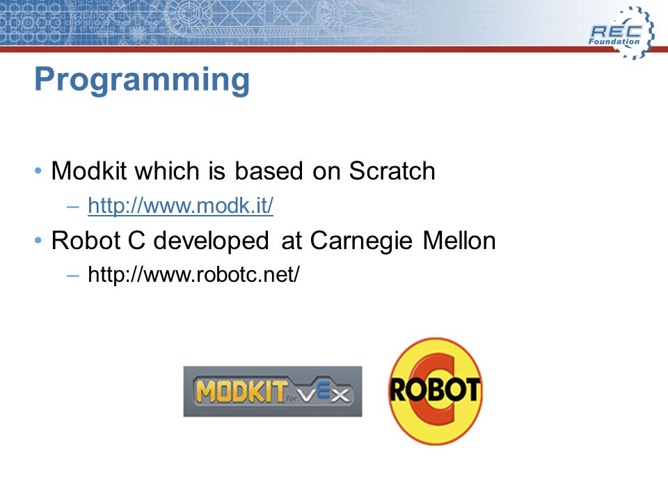 Programming Modkit which is based on Scratch