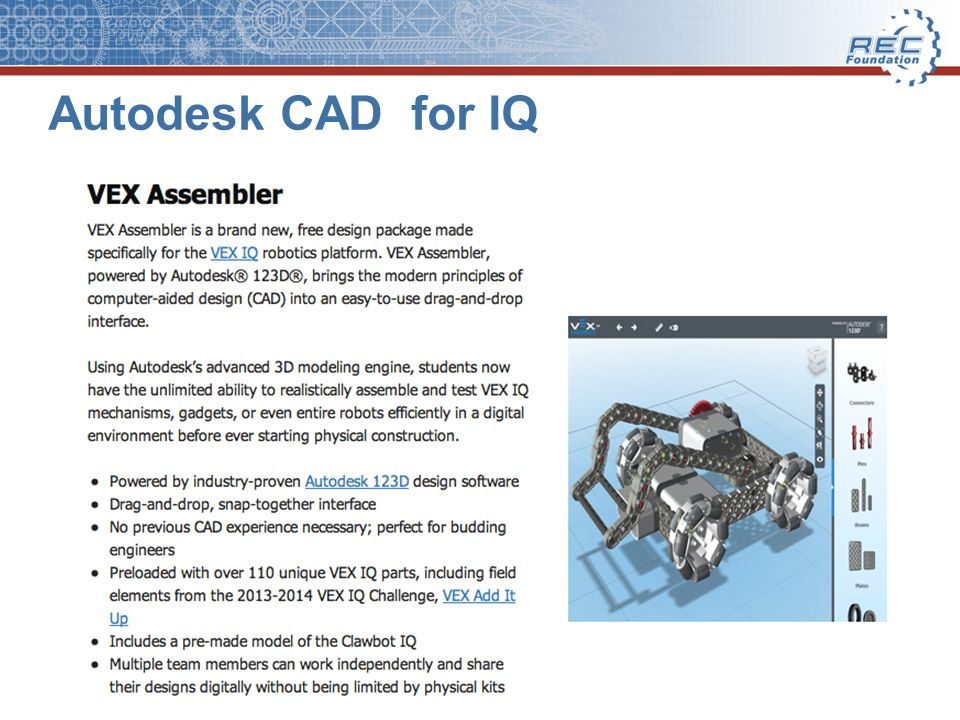 Autodesk CAD for IQ