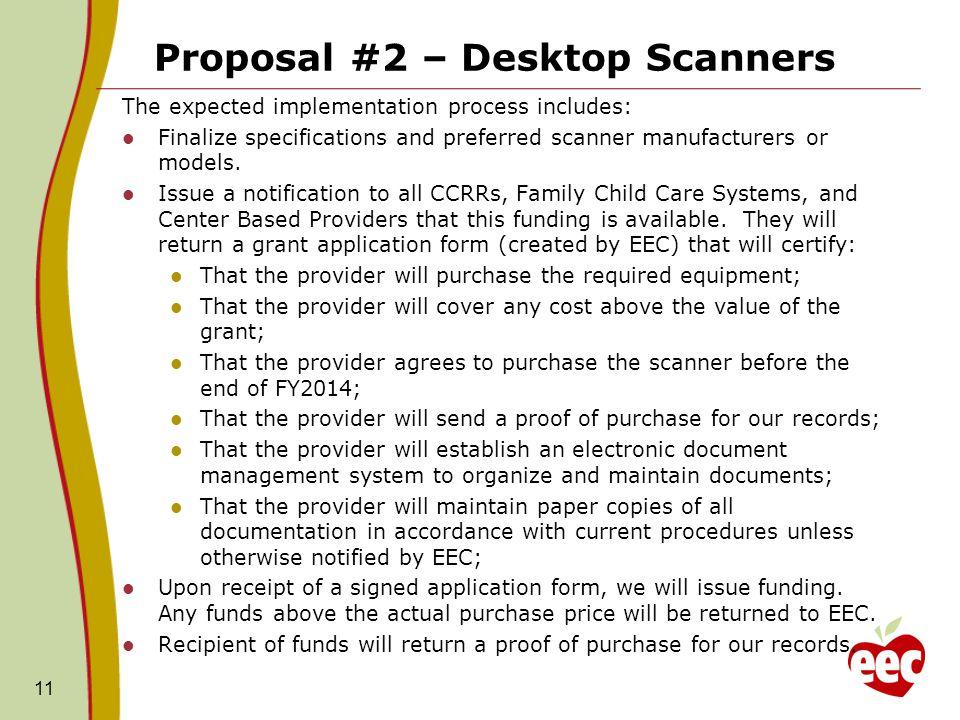 Proposal #2 – Desktop Scanners