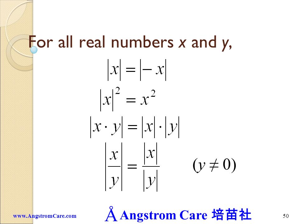 For all real numbers x and y,