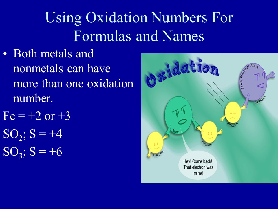 Using Oxidation Numbers For Formulas and Names